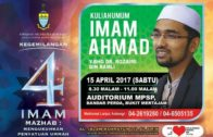 15-04-2017 Dr. Rozaimi Ramle: Kegemilangan 4 Mazhab | Imam Ahmad