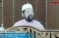27/9/2017 Isya', YBhg. Maulana Asri Yusoff, Usul Tafsir Quran