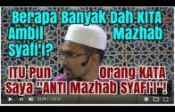Dr. Rozaimi SEDIH Kerana Masih RAMAI Yang TAK FAHAM Mazhab Syafi'i!