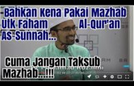 Takkan Dr. Rozaimi TAK BAGI Pakai MAZHAB?