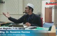 07-09-2017 || Dato' Dr Rozaimi Ramlee | Kitab Jami'ulul Wal Hikam Hadis Ke-30