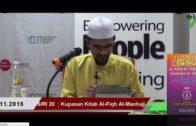 SIRI 20|| Al-Fiqh Al- Manhaji || DR ROZAIMI RAMLE