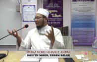 Yayasan Ta'lim: Hadith Sahih, Faham Salah [31-01-15]