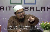 20191201 Ustaz Adli Mohd Saad : Daurah Syarah Kitab Usul Al Sunnah Imam Al Humaydi
