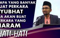 Dr Rozaimi Ramle || Perkara Syubhat