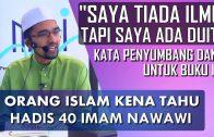 "Dr Rozaimi Ramle || Terhasilnya Satu Buku Hadis ""40 Amalan Mudah Menurut Sunnah"""