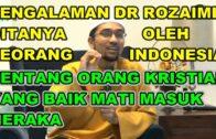 Dr Rozaimi Ramle – Keadilan Allah Terhadap Muslim Dan Non-Muslim Di Akhirat