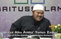 20191004 Ustaz Abu Asma' Yunus Zainal : Syarah Kitab Syarahus Sunnah Imam Barbahari
