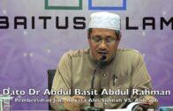 20180414 Dato Dr Abdul Basit Abdul Rahman : Pembersihan Jiwa Antara Ahli Sunnah Vs. Ahli Sufi