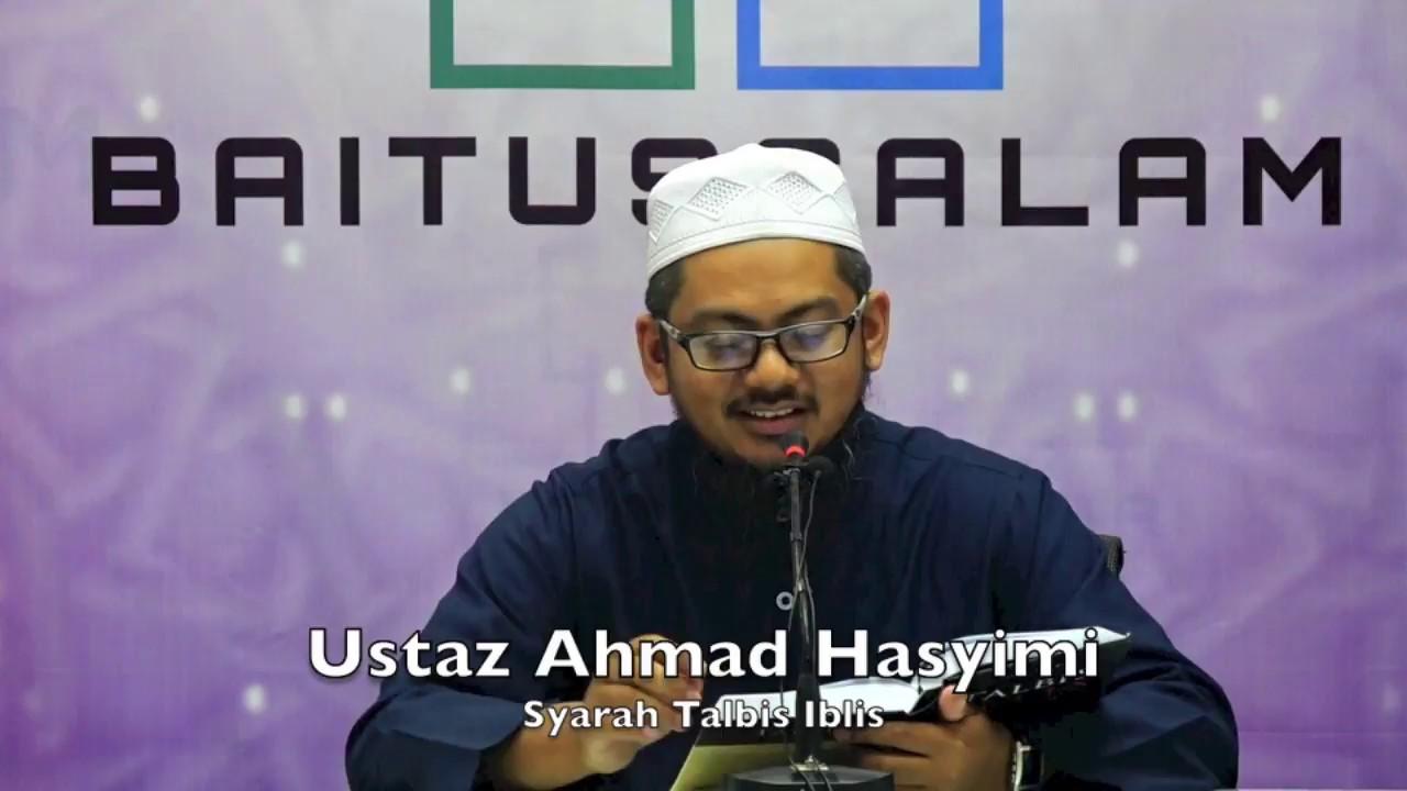 20180428 Ustaz Ahmad Hasyimi : Syarah Talbis Iblis