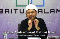 20190418 Ustaz Muhammad Fahmi Rusli : Syarah Mukhtasar Zadul Maad
