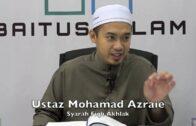 02082016 Ustaz Mohamad Azraie : Syarah Fiqh Akhlak