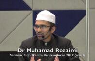 09022017 Dr Muhamad Rozaimi : Seminar Fiqh Wanita Kontemporari (sesi 3)