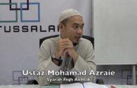 29112016 Ustaz Mohamad Azraie : Syarah Fiqh Akhlak