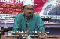 [RINGKAS]26012016 Dr Muhamad Rozaimi : Lahirnya Empat Mazhab Muktabar