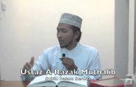 15122014 Ustaz A Razak Muthalib : Syirik Dalam Berdoa