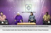 20201011 Forum Syubhat Hadith Akhir Zaman Pada Musim Musibah & Covid-19 Suatu Perbahasan