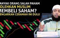 Hukum Jual Beli Saham Menurut Pandangan Islam   Ceramah Ustadz Khalid Basalamah Terbaru