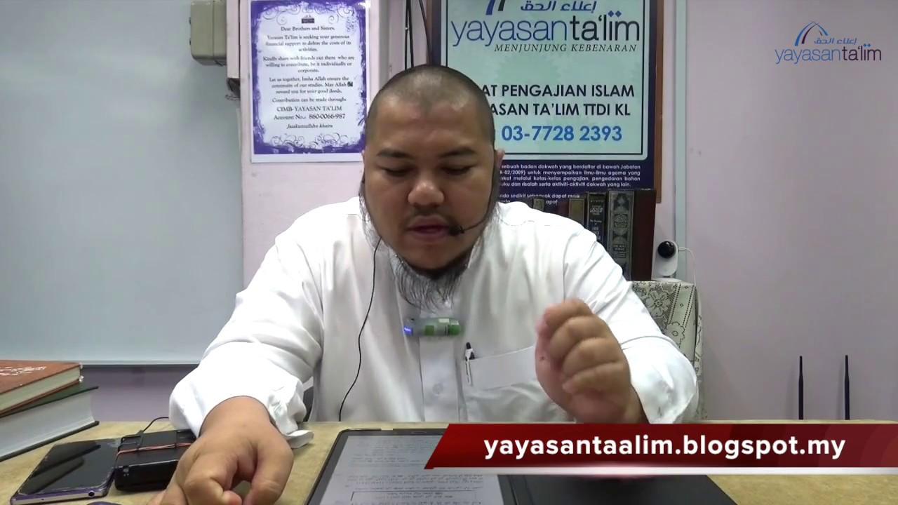 Yayasan Ta'lim: Kelas Sahih Muslim [26-03-17]