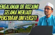 Tampak Senang Tapi Jadi Pensyarah TakLah Semudah Yg Dibayangkan [ Dr Rozaimi Ramle ] .