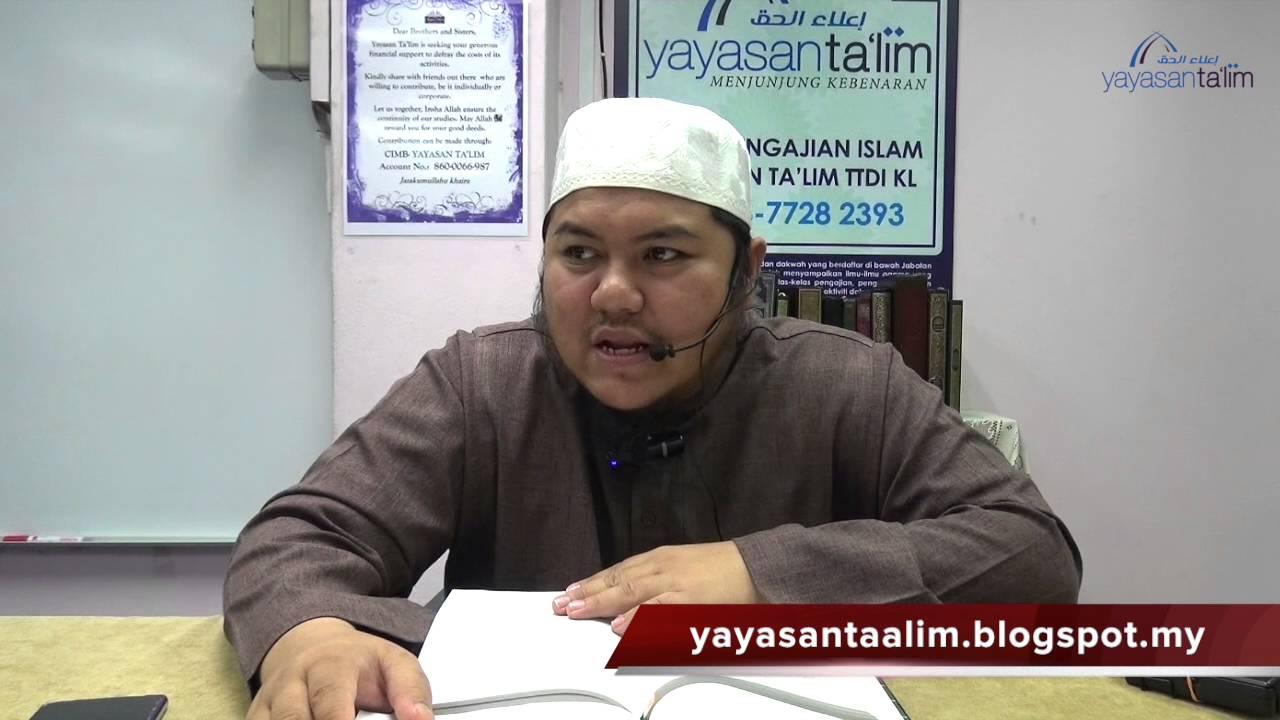 Yayasan Ta'lim: Zadul Ma'ad [25-08-16]